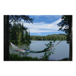 Mountain Lake, Hammock Poster