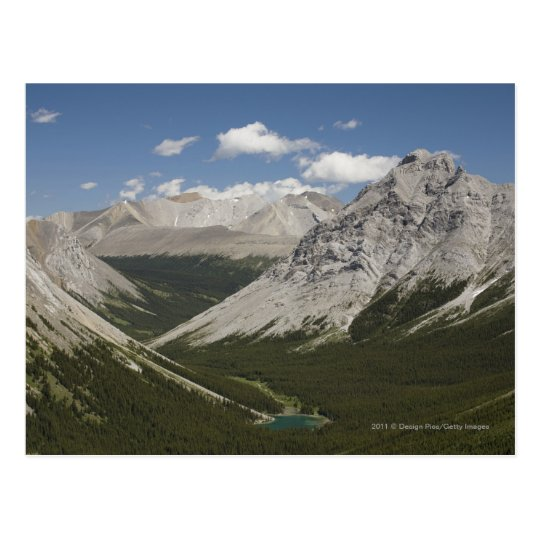 Mountain Lake In A Valley With Blue Sky Postcard