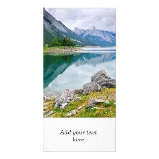Mountain lake in Jasper National Park Card