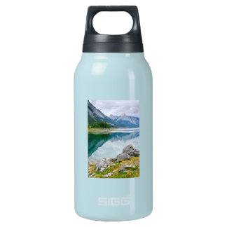 Mountain lake in Jasper National Park Insulated Water Bottle
