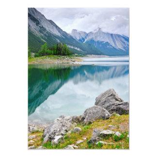 Mountain lake in Jasper National Park 5x7 Paper Invitation Card
