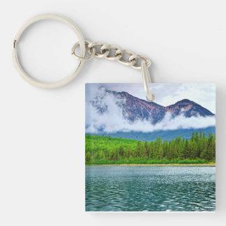 Mountain lake in Jasper National Park Keychain