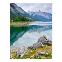 Mountain lake in Jasper National Park Postcard