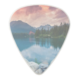 Mountain lake in National Park High Tatra 2 Acetal Guitar Pick