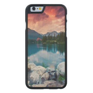 Mountain lake in National Park High Tatra 2 Carved® Maple iPhone 6 Case