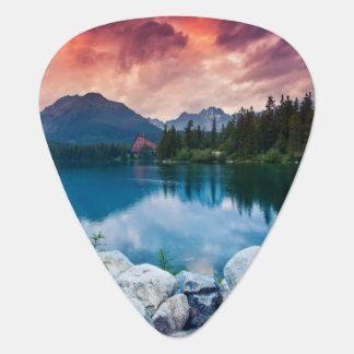 Mountain lake in National Park High Tatra 2 Guitar Pick