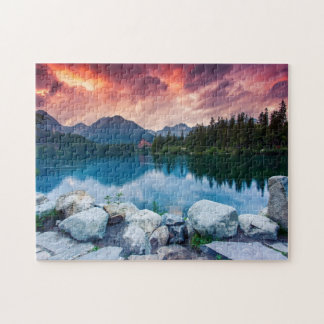 Mountain lake in National Park High Tatra 2 Puzzles