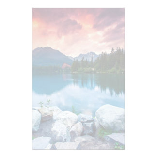 Mountain lake in National Park High Tatra 2 Stationery