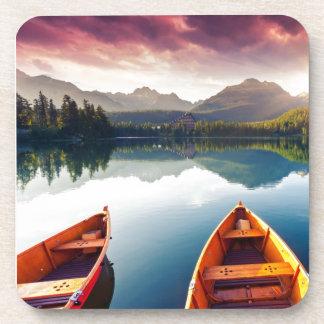 Mountain lake in National Park High Tatra 3 Drink Coaster