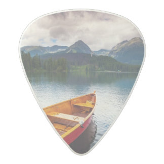 Mountain lake in National Park High Tatra Acetal Guitar Pick