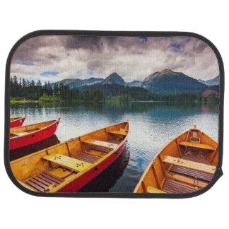 Mountain lake in National Park High Tatra Car Floor Mat