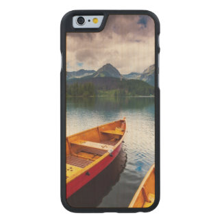 Mountain lake in National Park High Tatra Carved® Maple iPhone 6 Slim Case