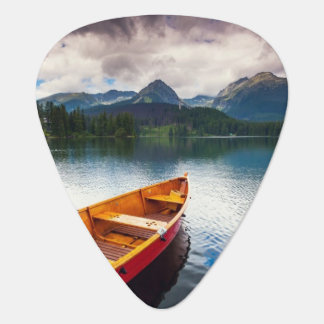 Mountain lake in National Park High Tatra Guitar Pick