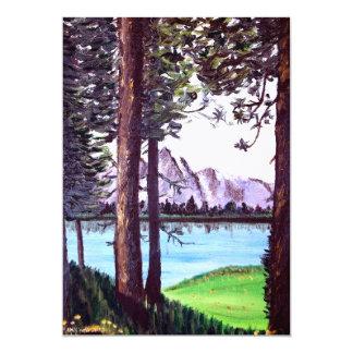 Mountain Lake 5x7 Paper Invitation Card