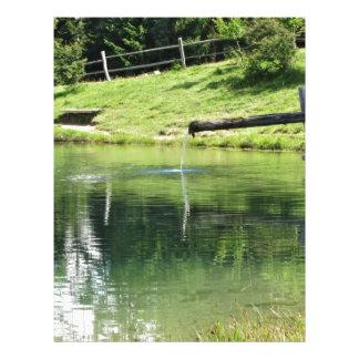 Mountain lake letterhead