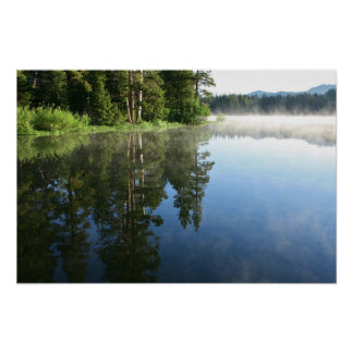 Mountain Lake, Mist Reflections Posters