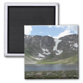 Mountain Lake on Mt. Evans in Colorado 2 Inch Square Magnet