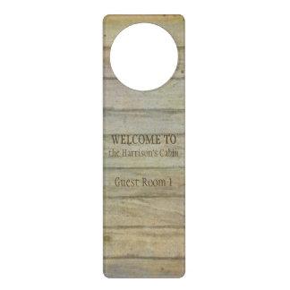 Mountain Lake Pines Welcome Cabin Personalized Door Hanger