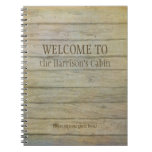 Mountain Lake Pines Welcome Cabin Personalized Notebook at Zazzle