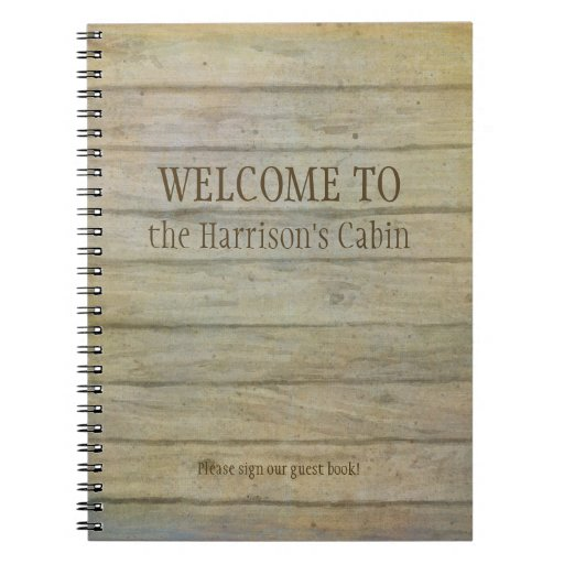 Mountain Lake Pines Welcome Cabin Personalized Spiral Notebook