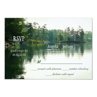 Mountain Lake reflection RSVP Card
