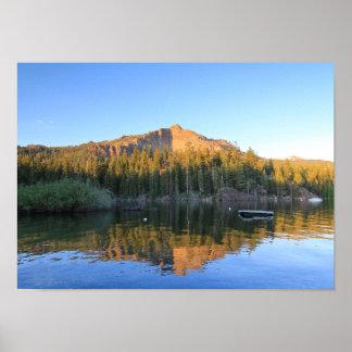 Mountain Lake, Reflection, Sunset Poster