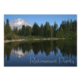 Mountain Lake Retirement Party Invitation