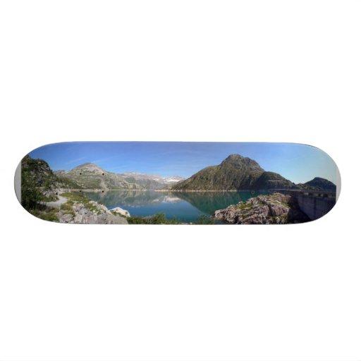 mountain lake skate board