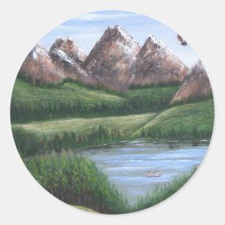 Mountain Lake Stickers
