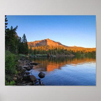 Mountain Lake, Sunset, Dock Poster
