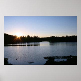 Mountain Lake, Sunset Print