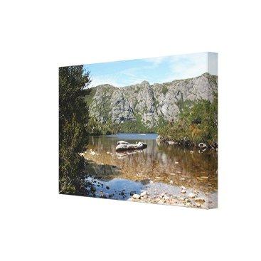 franwestphotography Mountain lake, Tasmania, Australia Canvas Print