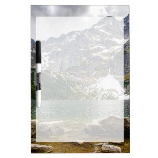 Mountain Lake, Tatra Mountains, Landscape Photo Dry Erase Board