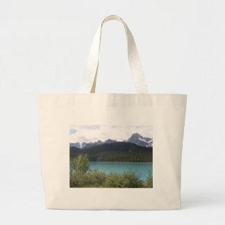 Mountain Lake Tote Bags