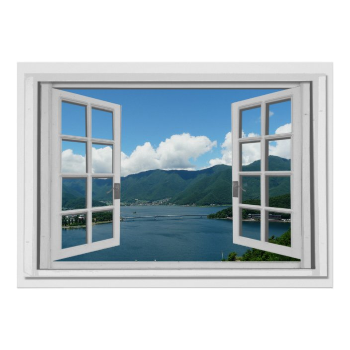 Wall sticker trompe l/'oeil home in the mountain 843