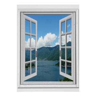 Fake window posters zazzle for Poster fenetre trompe l oeil