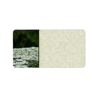 Mountain Lake Water Lilies Address Label