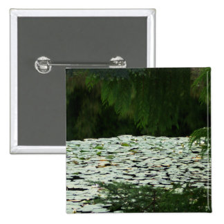 Mountain Lake Water Lilies Buttons