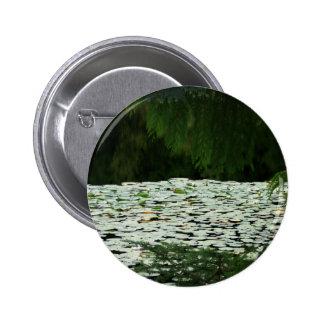 Mountain Lake Water Lilies Button