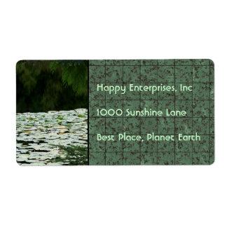 Mountain Lake Water Lilies Label