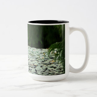 Mountain Lake Water Lilies Two-Tone Coffee Mug