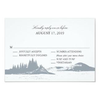 Mountain Lake  | Wedding RSVP with Menu Choices Card