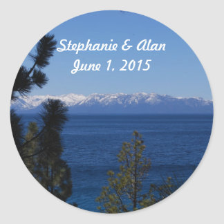 Mountain Lake Wedding Stickers