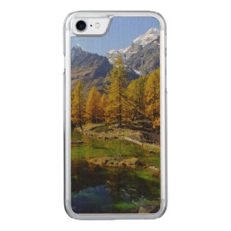 Mountain Lake Woods Scene Carved iPhone 8/7 Case