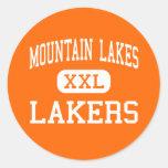Mountain Lakes - Lakers - High - Mountain Lakes Round Sticker