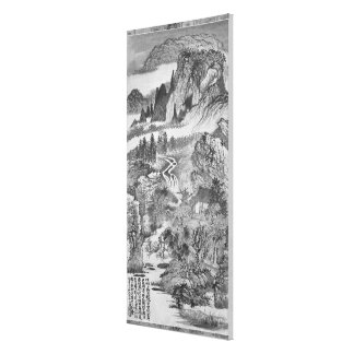 Mountain Landscape, after Huang Gongwang  1671 Canvas Print