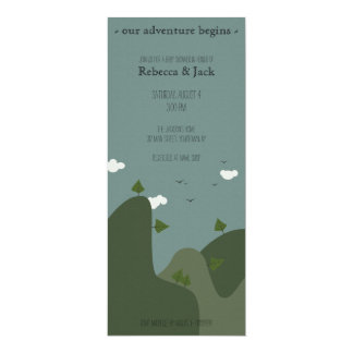 Mountain landscape baby shower invitation