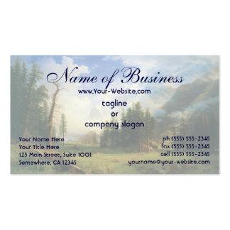 Mountain Landscape Bierstadt Hudson River School Business Card Templates