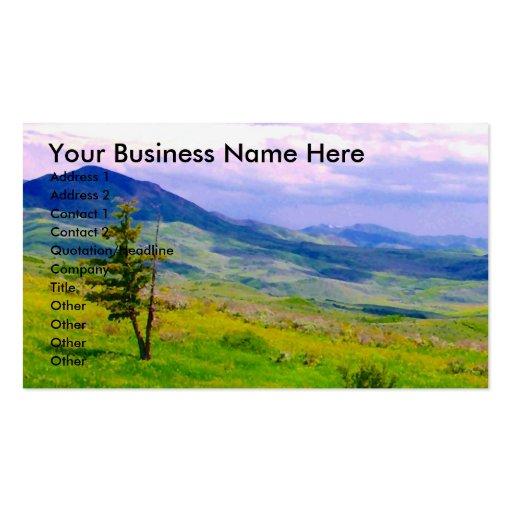 Mountain Landscape Business Card Templates
