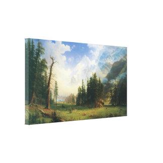 Mountain Landscape by Albert Bierstadt Stretched Canvas Print